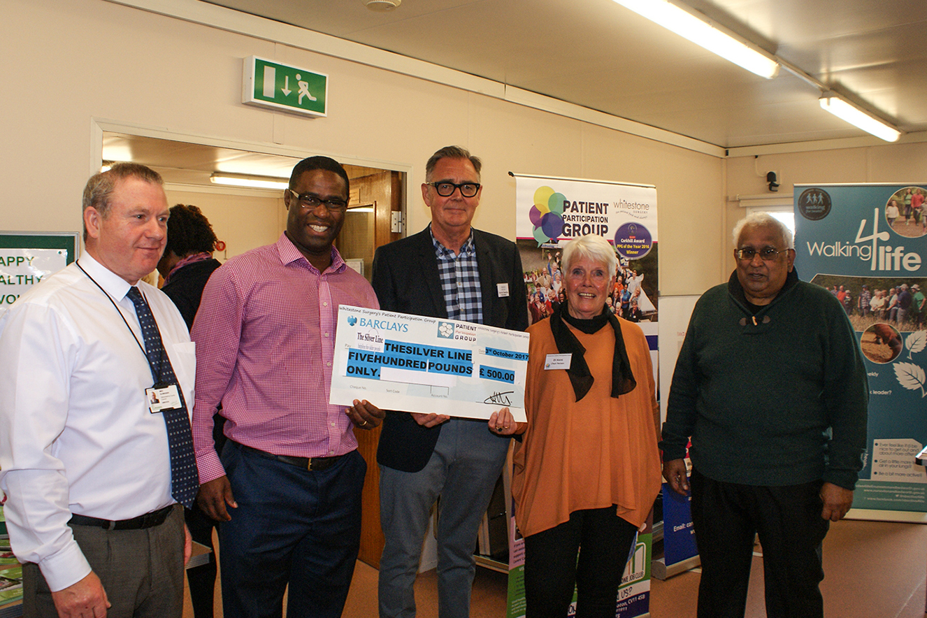 WS-PPG raises £500 for the Silver Line Charity